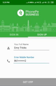 PhonePe Merchant Id Sign-up