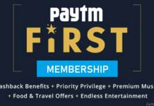 Paytm First Membership Free